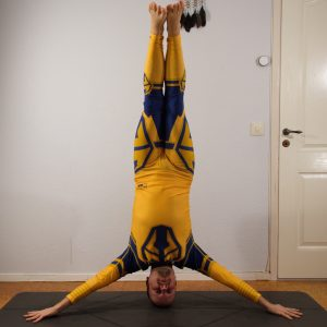 Iron Cross Headstand in November 29th 2020. Thank you all hosts and sponsors for this challenge! One thing I love with Sweden is the mighty contrast between winter and summer. I bring a pictur