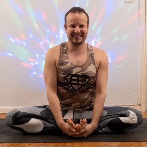 Bound Angle Pose in April 12th 2021. I was yesterday in caterpillar, and I've now transformed to a butterfly with Bound Angle Pose. Just like real caterpillars gets in cocoon before they becom