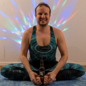 Bound Angle Pose in May 17th 2021. My choice for hip opener is beer yoga with Baddha Konasana or Bound Angle Pose.
